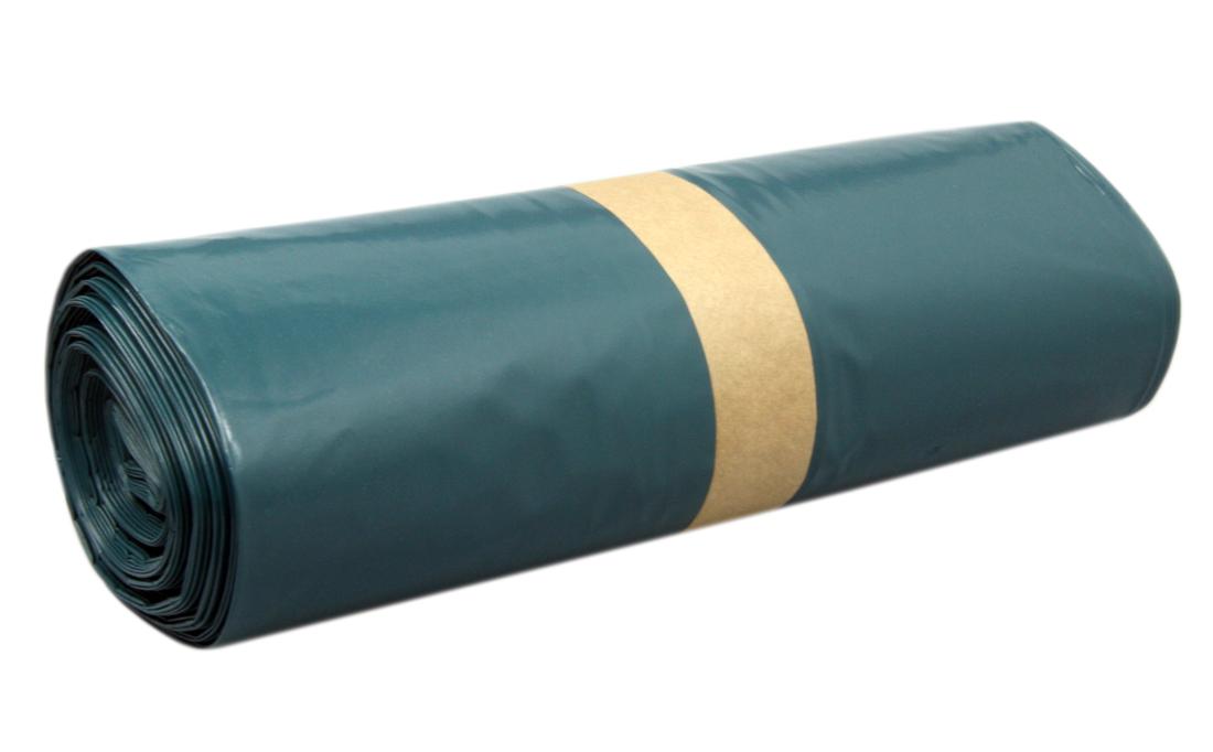25 x Colorus Müllsack 120l 80my blau auf Rolle