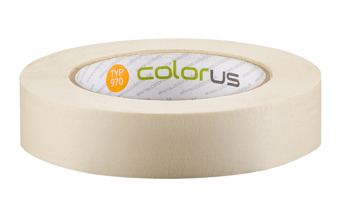 Colorus Feinkrepp PLUS Klebeband 90° 50m 25mm 25mm