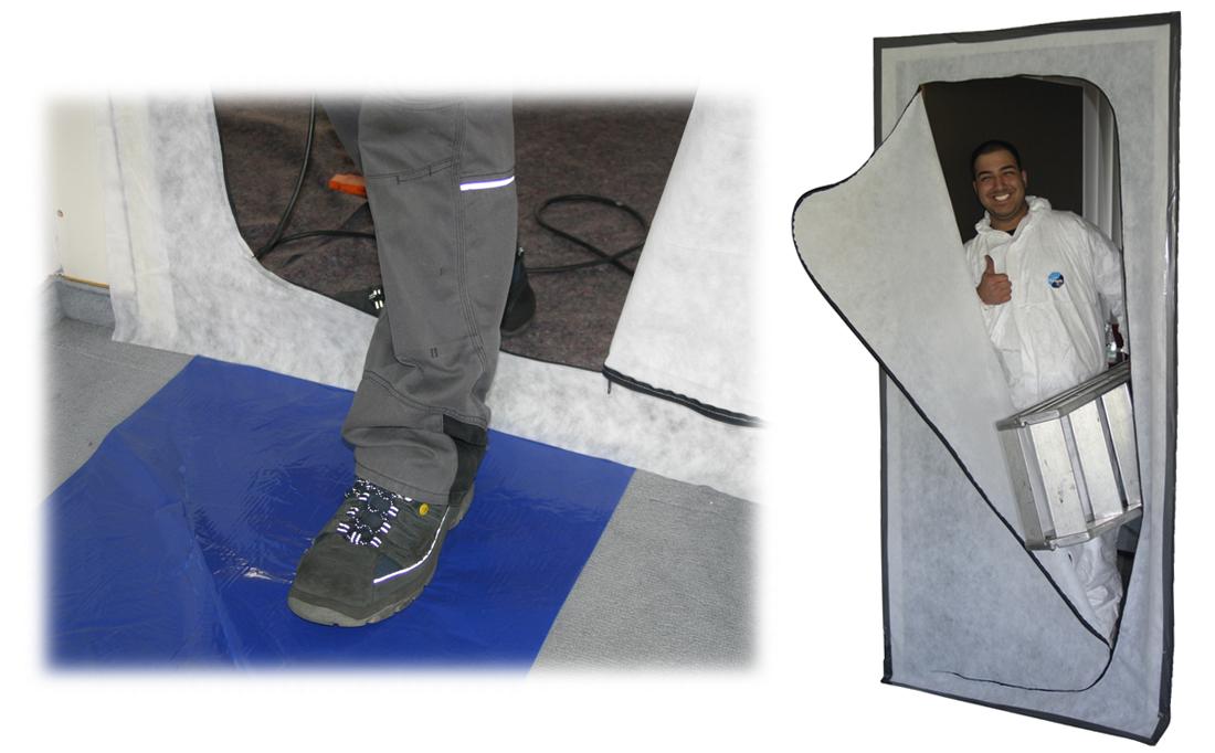 Colorus Staubschutztüre Spinnvlies mit Reißverschluss