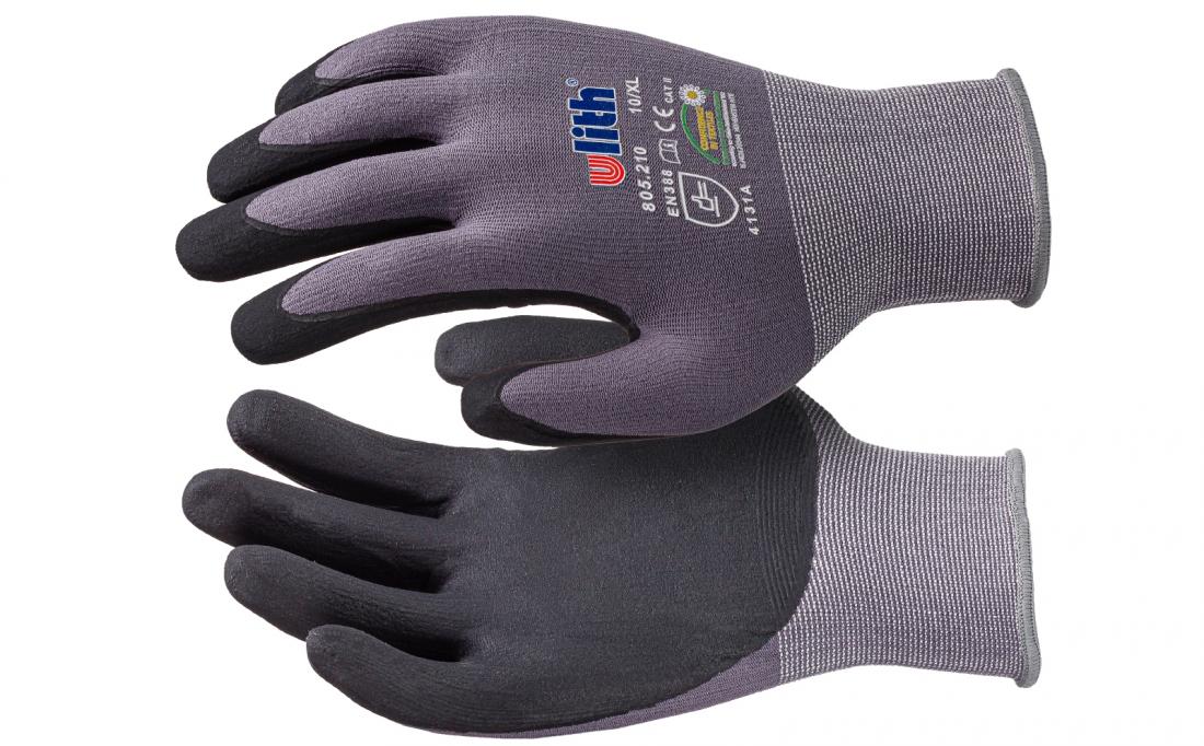 Premium Feinstrick Nylon PU Montage Handschuhe L L