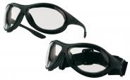 STAUBDICHT Schutzbrille MINER mit Bügel und Kopfband