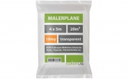 Malerplane gefaltet 10my HDPE transparent