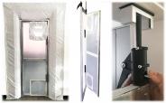PREMIUM Alu Pendel Staub Schutztüre AUTO CLOSE für alle Standard Türen