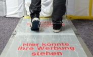 Premium ALU Transportklappe für Schmutzfangmatten inkl. 30 Klebefolien 1,14 x 0,65m