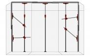 Premium Staubschutzwand KOMPLETT Set 4,5m Breite bis 3,75m Deckenhöhe