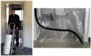Colorus DUO Staubschutztüre PLUS 100µ PE Folie mit S Reißverschluss bodentiefe Öffnung transparent