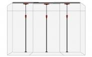 Premium Staubschutzwand STARTER SET 4,5m Breite bis 3,75m Deckenhöhe