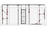 Premium Staubschutzwand XXL Set 6m Breite bis 3,75m Höhe mit Alu Pendeltüre