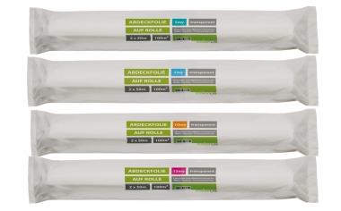 Abdeckfolie auf Rolle HDPE transparent 2 x 50m 30my 30my