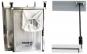 Premium Alu Pendel Staubschutztüre AUTO CLOSE für alle Standard Türen  - 3
